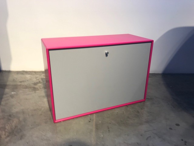Desk module / Wall / Ginza pink/Fjord