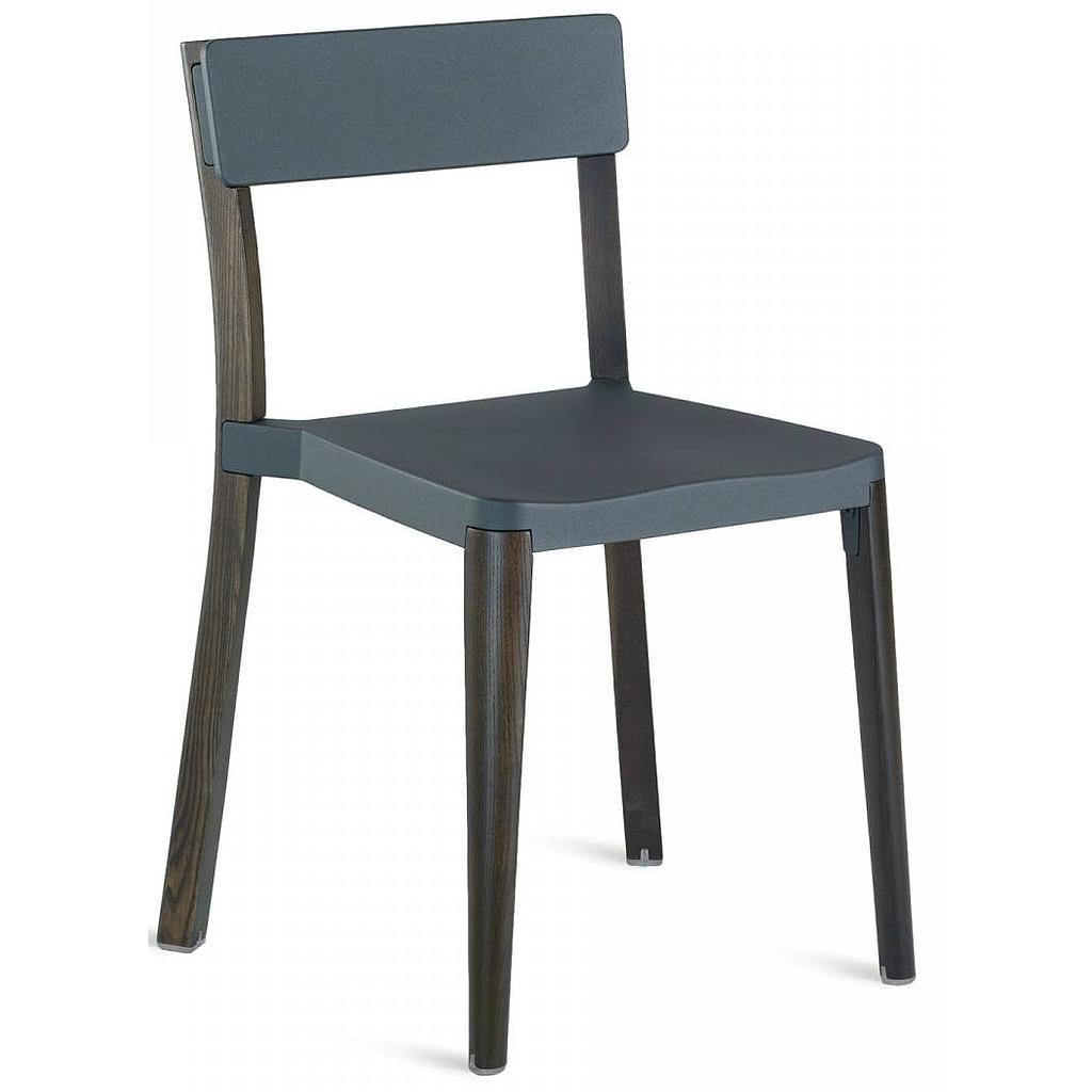Lancaster Stacking Chair / Dark ash / Dark grey