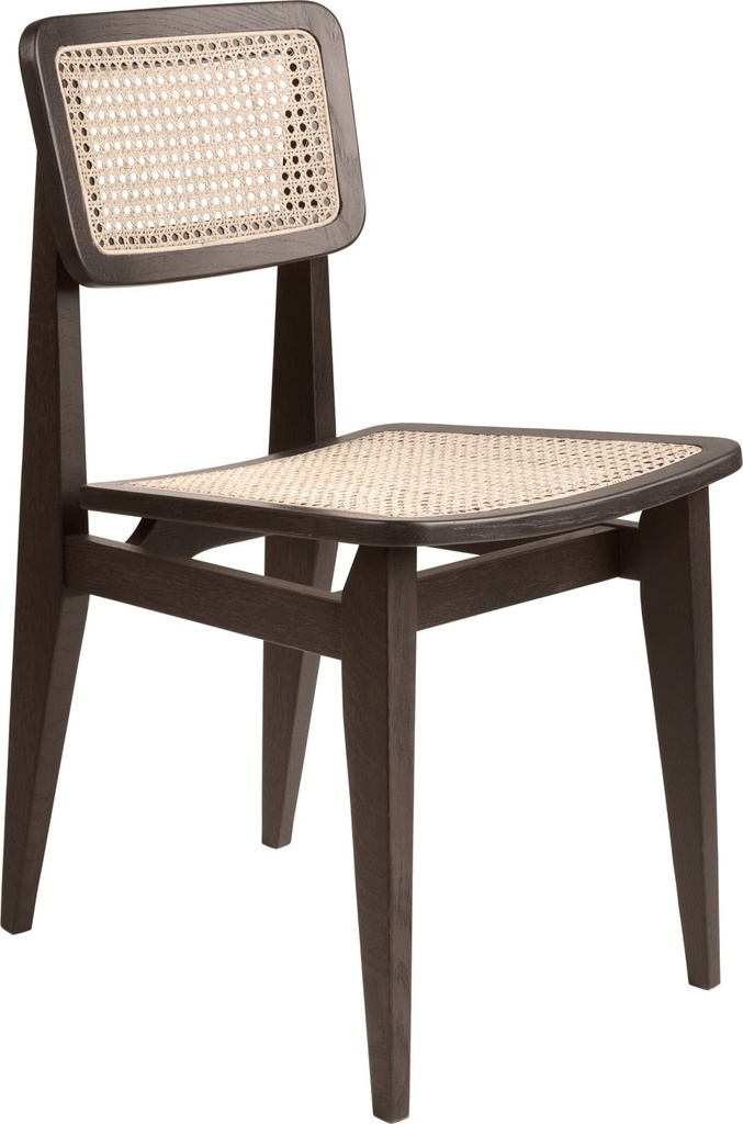 C-Chair Dining Chair - Un-upholstered All French cane / Smoked oak