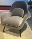 Swoon Lounge Chair - Model 1770 / Oak black lacquered / Fabric Kvadrat Harald 242