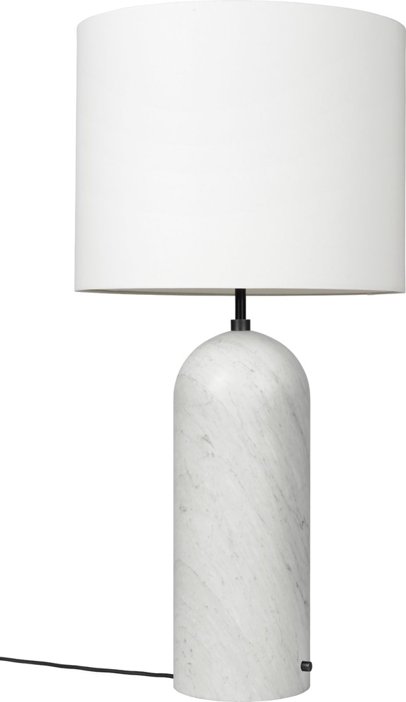 Gravity Floor Lamp - XL Low / White marble / White