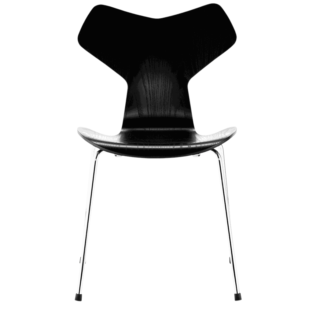 3130 - Grand Prix Chair chrome base Front upholstered-Lacquered