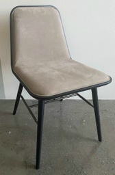 Spine Chair Wood Base - Model 1721 / Black lacquered / Nubuck 502 Warm grey