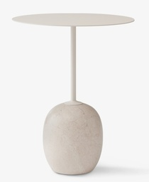 LN8 - Lato side table / Ivory white / Crema Diva marble