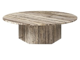 Epic Coffee Table - Round 110 / Grey Travertine